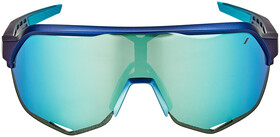 100% Speedcraft Lunettes Grand, matte metallic into the fadeblue mirror